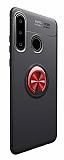 Eiroo Liquid Ring Huawei P30 Lite Standlı Kırmızı-Siyah Silikon Kılıf