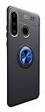 Eiroo Liquid Ring Huawei P30 Lite Standlı Lacivert-Siyah Silikon Kılıf