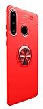 Eiroo Liquid Ring Huawei P30 Lite Standlı Kırmızı Silikon Kılıf