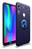 Eiroo Liquid Ring Honor 8A Standlı Lacivert Silikon Kılıf