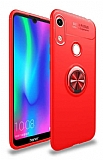 Eiroo Liquid Ring Honor 8A Standlı Kırmızı Silikon Kılıf