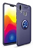 Eiroo Liquid Ring Huawei Y7 Prime 2019 Standlı Lacivert Silikon Kılıf