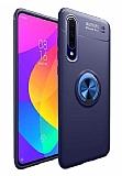 Eiroo Liquid Ring Huawei Y8P Standlı Lacivert Silikon Kılıf