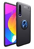Eiroo Liquid Ring Huawei Y8P Standlı Siyah-Lacivert Silikon Kılıf