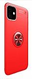 Eiroo Liquid Ring iPhone 11 Standlı Kırmızı Silikon Kılıf