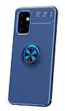Eiroo Liquid Ring Samsung Galaxy A32 5G Standlı Mavi Silikon Kılıf
