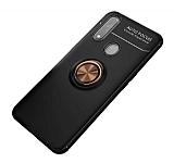 Eiroo Liquid Ring Oppo A31 Standlı Rose Gold-Siyah Silikon Kılıf
