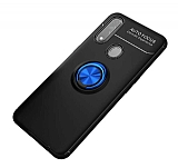 Eiroo Liquid Ring Oppo A31 Standlı Mavi-Siyah Silikon Kılıf
