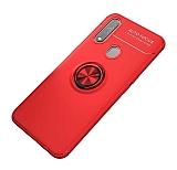 Eiroo Liquid Ring Oppo A31 Standlı Kırmızı Silikon Kılıf