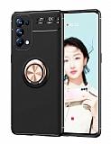 Eiroo Liquid Ring Oppo Reno 5 Pro 5G Standlı Rose-Gold Silikon Kılıf