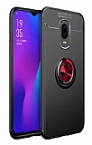 Eiroo Liquid Ring Oppo RX17 Pro Standlı Kırmızı-Siyah Silikon Kılıf