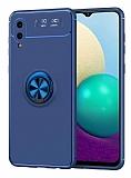 Eiroo Liquid Ring Samsung Galaxy A02 Standlı Mavi Silikon Kılıf