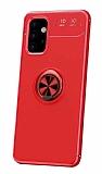Eiroo Liquid Ring Samsung Galaxy A32 4G Standlı Kırmızı Silikon Kılıf