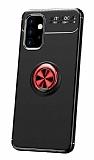 Eiroo Liquid Ring Samsung Galaxy A32 4G Standlı Kırmızı-Siyah Silikon Kılıf