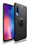 Eiroo Liquid Ring Samsung Galaxy A70 Standlı Siyah Silikon Kılıf