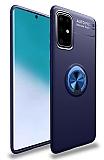 Eiroo Liquid Ring Samsung Galaxy A71 Standlı Lacivert Silikon Kılıf