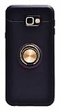 Eiroo Liquid Ring Samsung Galaxy J7 Prime / Prime 2 Standlı Gold-Siyah Silikon Kılıf
