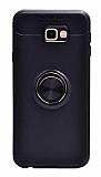 Eiroo Liquid Ring Samsung Galaxy J7 Prime / Prime 2 Standlı Siyah Silikon Kılıf