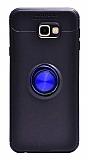 Eiroo Liquid Ring Samsung Galaxy J7 Prime / Prime 2 Standlı Lacivert-Siyah Silikon Kılıf