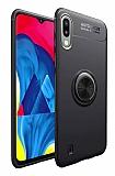 Eiroo Liquid Ring Samsung Galaxy M10 Standlı Siyah Silikon Kılıf