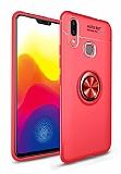 Eiroo Liquid Ring Samsung Galaxy M20 Standlı Kırmızı Silikon Kılıf