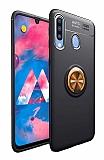 Eiroo Liquid Ring Samsung Galaxy M30 Standlı Gold-Siyah Silikon Kılıf