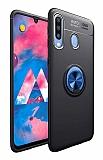 Eiroo Liquid Ring Samsung Galaxy M30 Standlı Lacivert-Siyah Silikon Kılıf