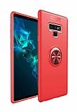 Eiroo Liquid Ring Samsung Galaxy Note 9 Standlı Kırmızı Silikon Kılıf