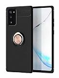 Eiroo Liquid Ring Samsung Galaxy S20 FE Standlı Rose Gold Silikon Kılıf