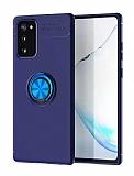 Eiroo Liquid Ring Samsung Galaxy S20 FE Standlı Lacivert Silikon Kılıf