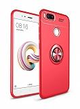 Eiroo Liquid Ring Xiaomi Mi 5X / Mi A1 Standlı Kırmızı Silikon Kılıf