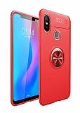 Eiroo Liquid Ring Xiaomi Mi 8 SE Standlı Kırmızı Silikon Kılıf