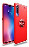 Eiroo Liquid Ring Xiaomi Mi 9 SE Standlı Kırmızı Silikon Kılıf
