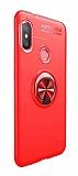 Eiroo Liquid Ring Xiaomi Mi A2 Lite Standlı Kırmızı Silikon Kılıf