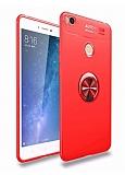 Eiroo Liquid Ring Xiaomi Mi Max 2 Standlı Kırmızı Silikon Kılıf