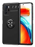 Eiroo Liquid Ring Xiaomi Poco X3 GT Standlı Siyah Silikon Kılıf