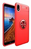 Eiroo Liquid Ring Xiaomi Redmi 7A Standlı Kırmızı Silikon Kılıf