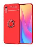 Eiroo Liquid Ring Xiaomi Redmi 9A Standlı Kırmızı Silikon Kılıf