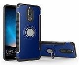 Eiroo Mage Fit Huawei Mate 10 Lite Standlı Ultra Koruma Lacivert Kılıf