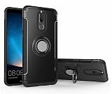 Eiroo Mage Fit Huawei Mate 10 Lite Standlı Ultra Koruma Siyah Kılıf