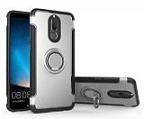 Eiroo Mage Fit Huawei Mate 10 Lite Standlı Ultra Koruma Silver Kılıf
