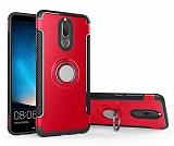Eiroo Mage Fit Huawei Mate 10 Lite Standlı Ultra Koruma Kırmızı Kılıf
