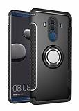 Eiroo Mage Fit Huawei Mate 10 Pro Standlı Ultra Koruma Siyah Kılıf