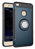 Eiroo Mage Fit Huawei P10 Lite Standlı Ultra Koruma Lacivert Kılıf