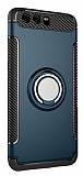 Eiroo Mage Fit Huawei P10 Plus Standlı Ultra Koruma Lacivert Kılıf