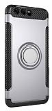 Eiroo Mage Fit Huawei P10 Plus Standlı Ultra Koruma Silver Kılıf