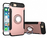 Eiroo Mage Fit iPhone 6 / 6S Standlı Ultra Koruma Rose Gold Kılıf