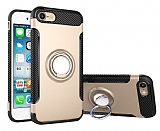 Eiroo Mage Fit iPhone 6 / 6S Standlı Ultra Koruma Gold Kılıf