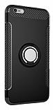Eiroo Mage Fit iPhone 6 Plus / 6S Plus Standlı Ultra Koruma Siyah Kılıf