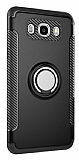 Eiroo Mage Fit Samsung Galaxy J7 2016 Standlı Ultra Koruma Siyah Kılıf